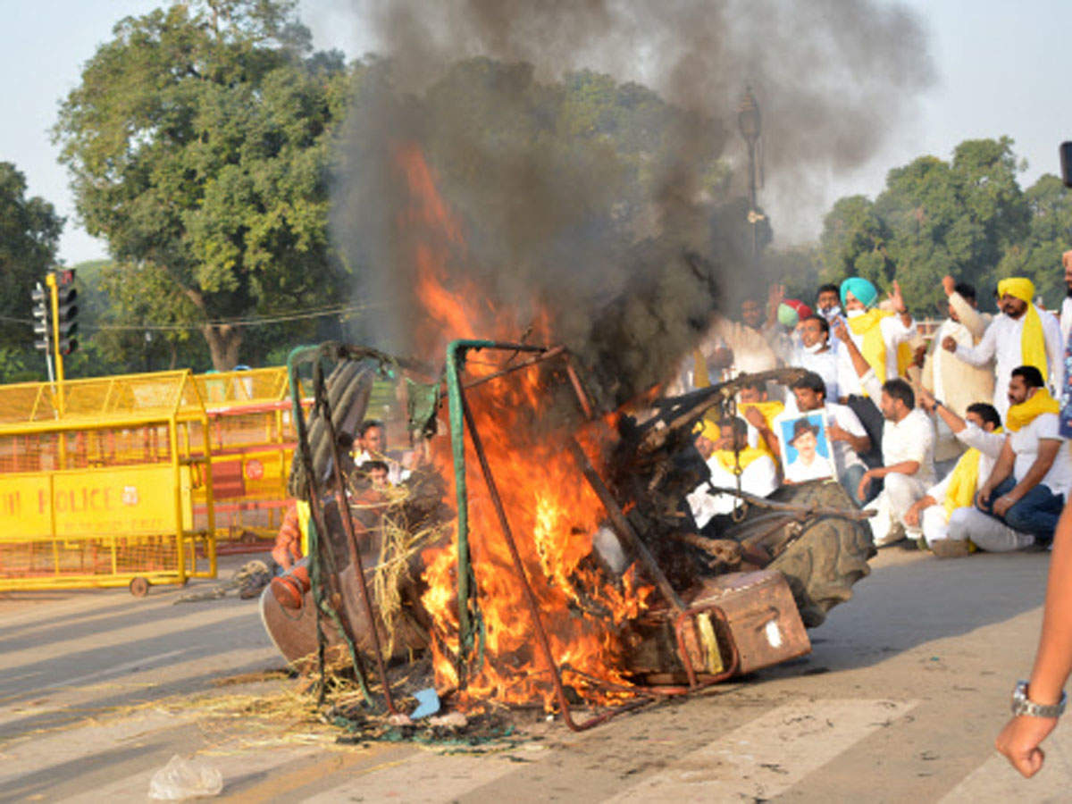 Delhi Police detain Punjab Youth Congress chief in tractor-burning incident near India Gate