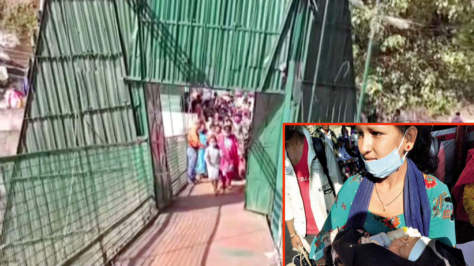 suspension-bridge-at-india-nepal-border-opened-for-sick-nepalese-baby