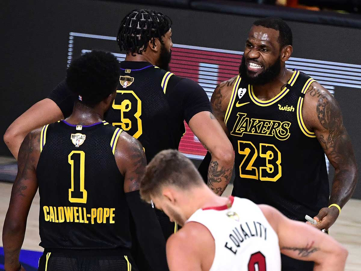 Nba Finals Nba Finals Lebron James Anthony Davis Power La Lakers To 2 0 Lead Over Miami Heat More Sports News Times Of India