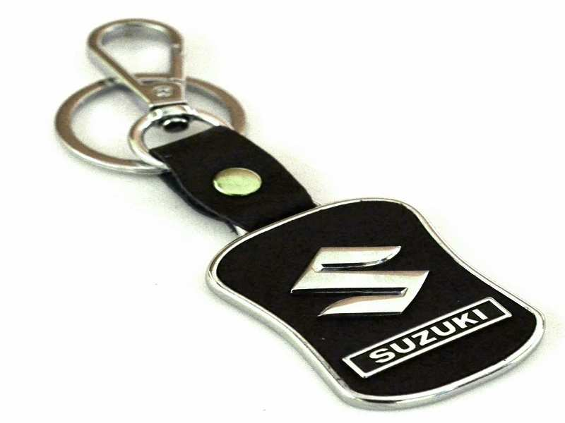 3D Chrome Double Sided Car Logo Key Chains Reflective Finish Perfect Gifts