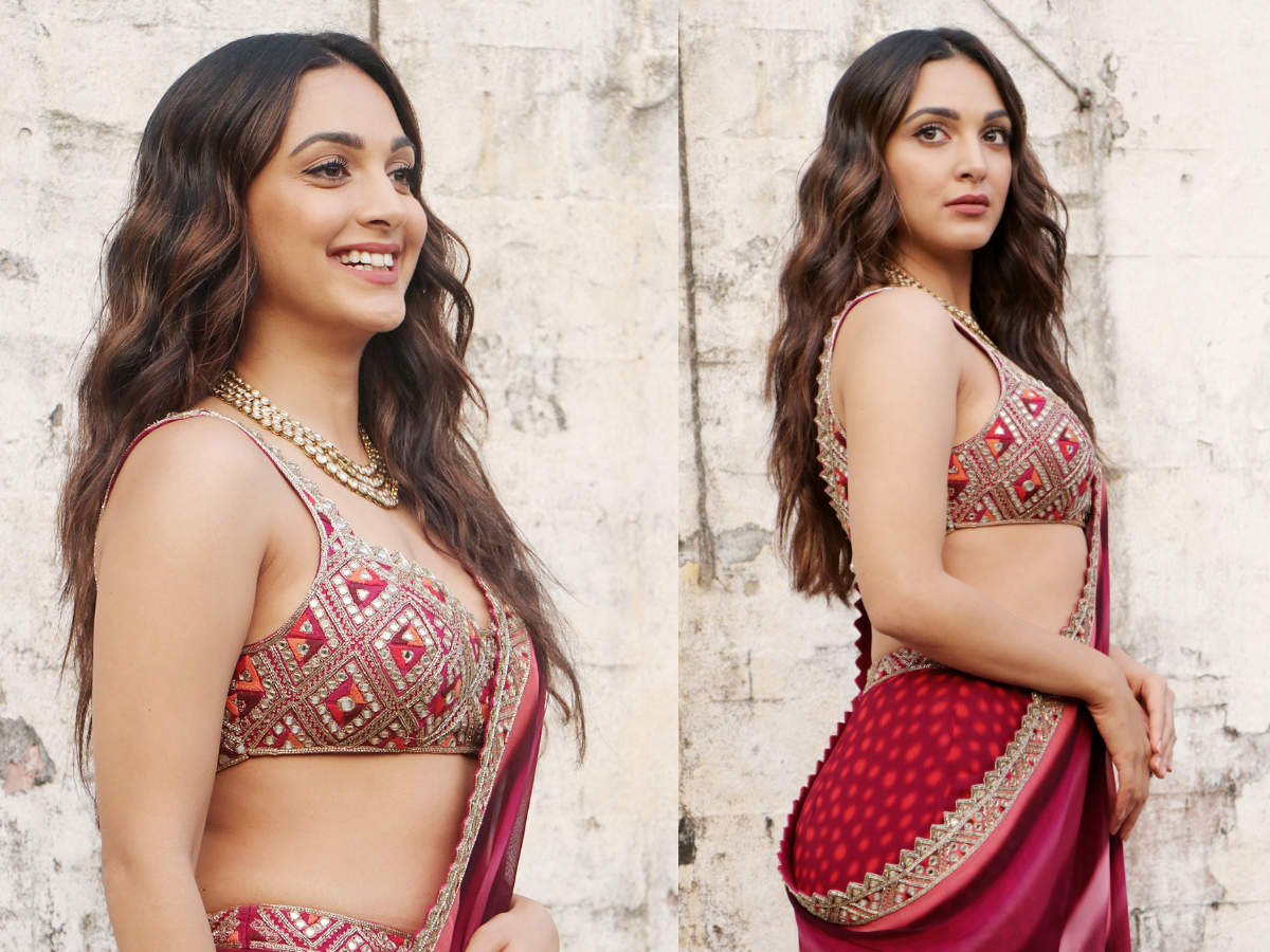 Kiara Advani just wore a sharara set as a sari and it could be ...