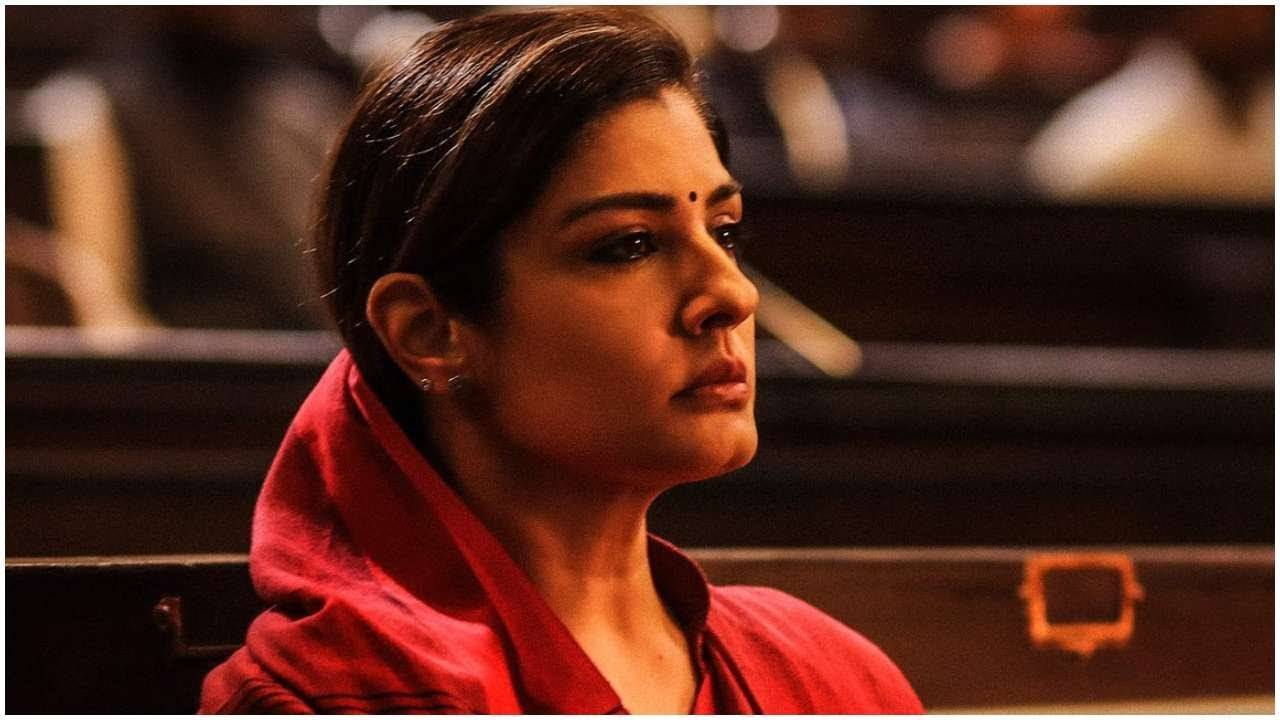 raveena-tandons-first-look-from-kgf-chapter-2-revealed-on-her-birthday