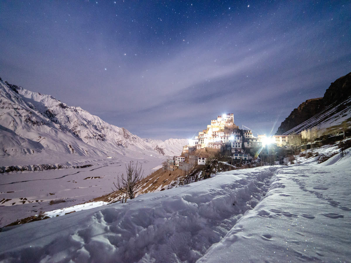 Lahaul Valley and others areas in Himachal Pradesh receive first snowfall of winter