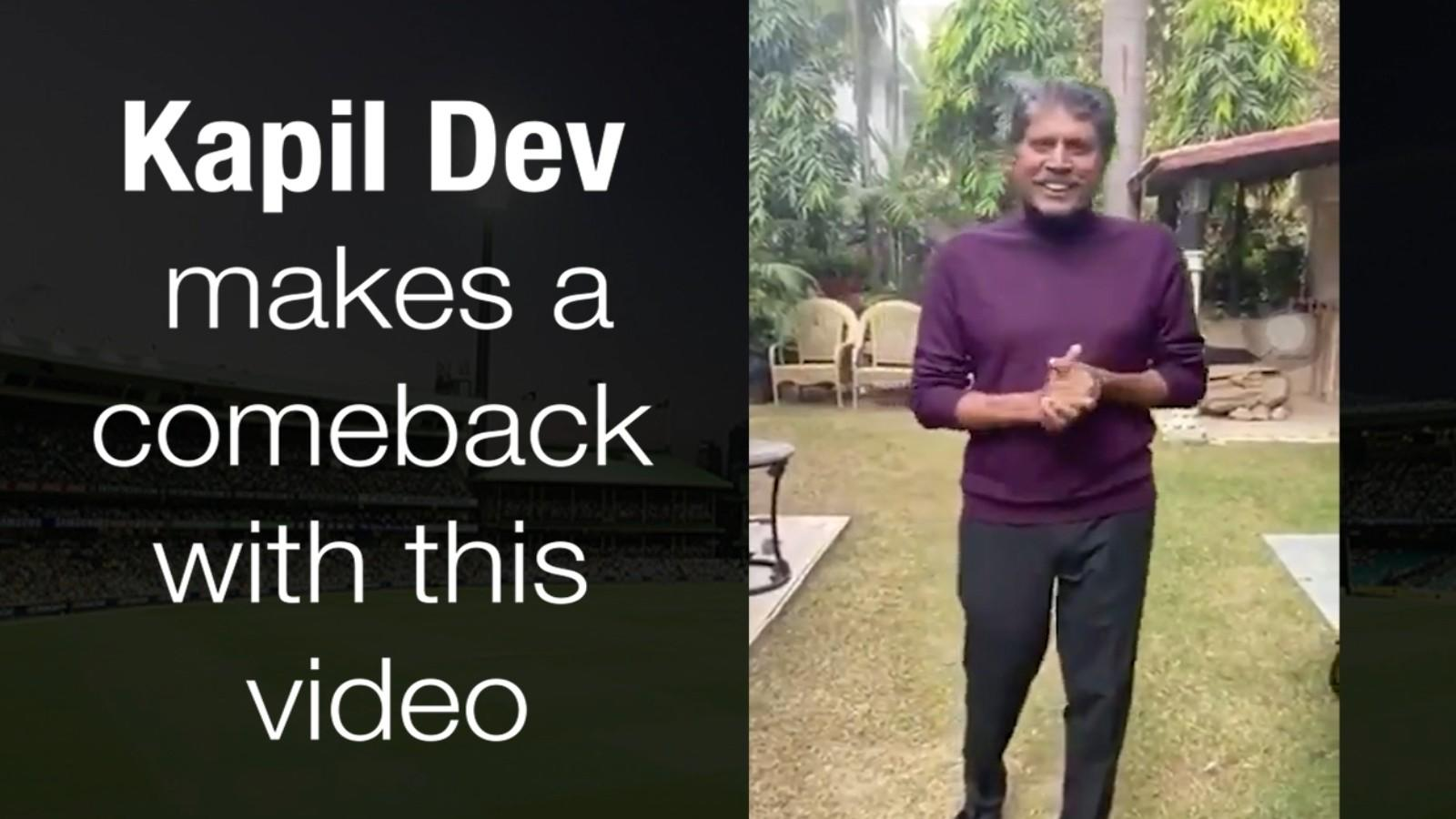 watch-legendary-cricketer-kapil-dev-makes-a-comeback-with-this-video