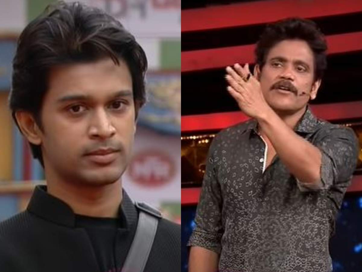 """Bigg Boss Telugu 4: Host Nagarjuna grills Abhijeet about giving up on a  task; asks Akhil, """"Is Monal a friend or more than that?"""" - Times of India"""