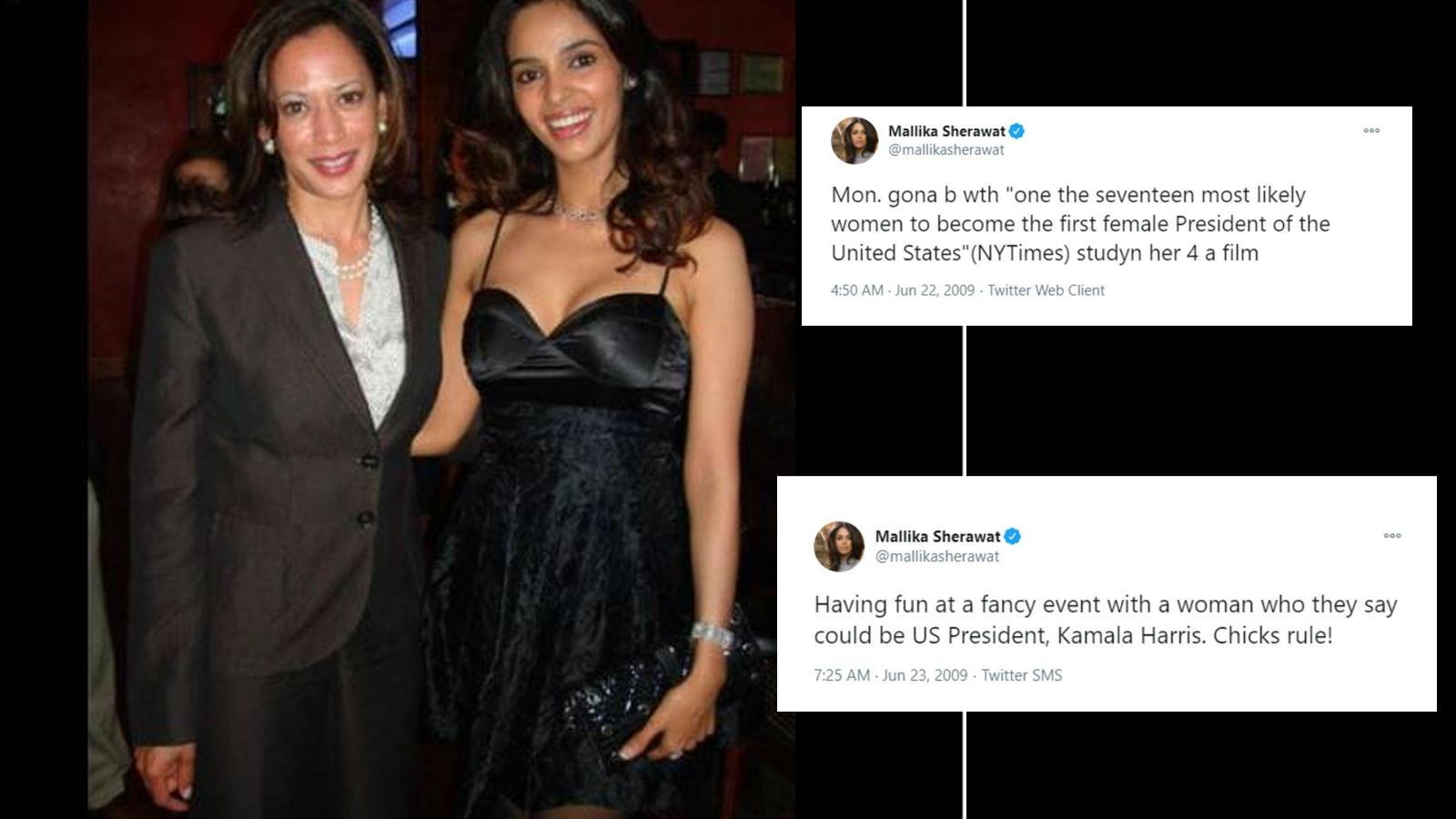 When Mallika Sherawat Predicted In 2009 Tweet That Kamala Harris Will Rise To Power Hindi Movie News Bollywood Times Of India
