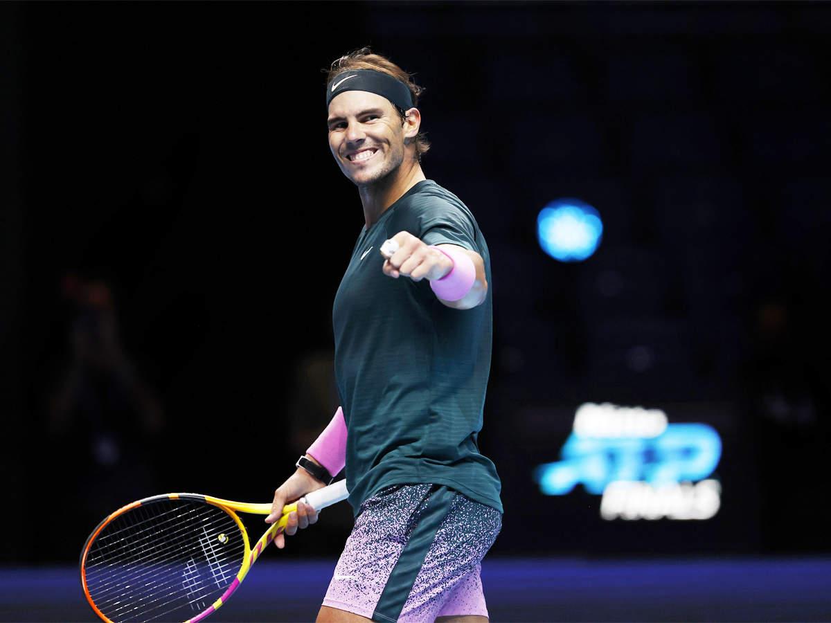 Rafael Nadal beats Stefanos Tsitsipas to reach last four at ATP Finals    Tennis News - Times of India