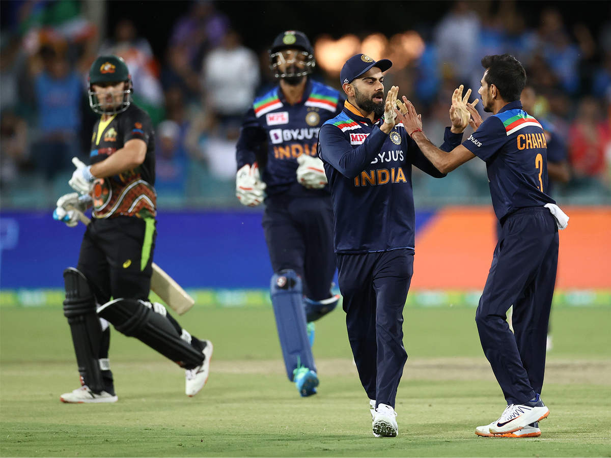 India vs Australia 1st T20I Live Score Updates: India off to cautious start  against Australia in Canberra : OVERS 2.3: FOUR! - The Times of India