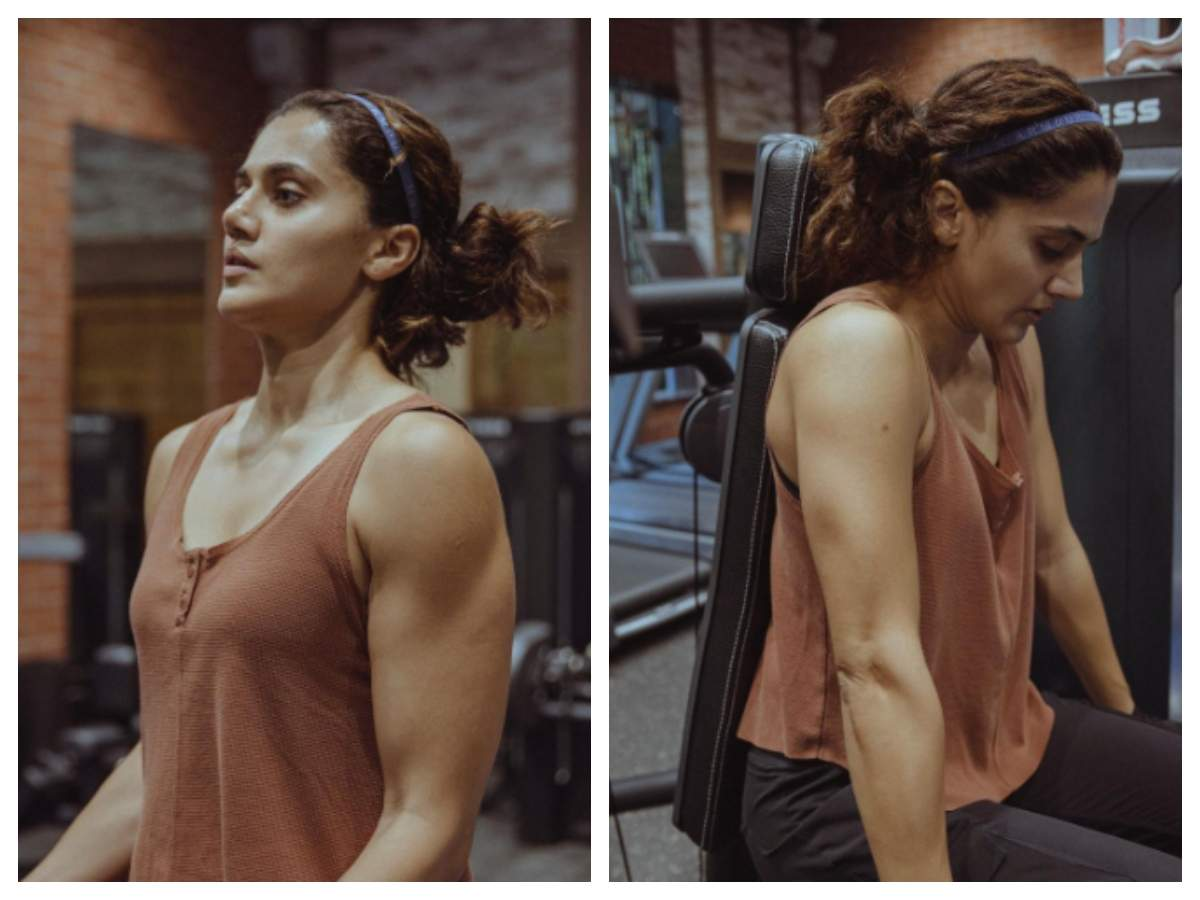 Taapsee Pannu shares a glimpse of her intense workout for 'Rashmi Rocket' |  Hindi Movie News - Times of India