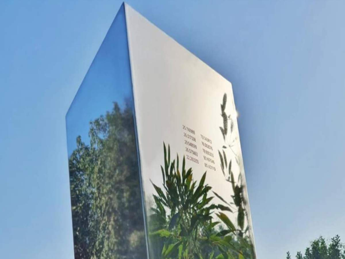 The travelling monolith appears in India's Ahmedabad