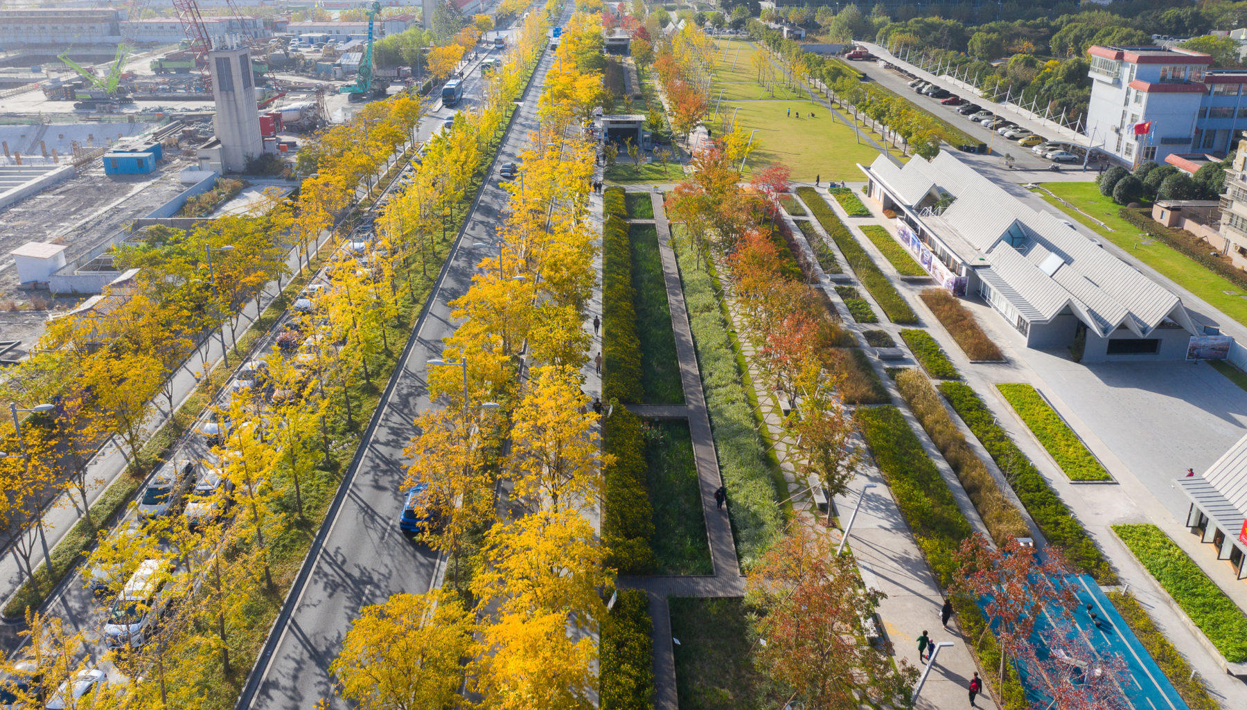 This old airport in Shanghai got transformed into an impressive park