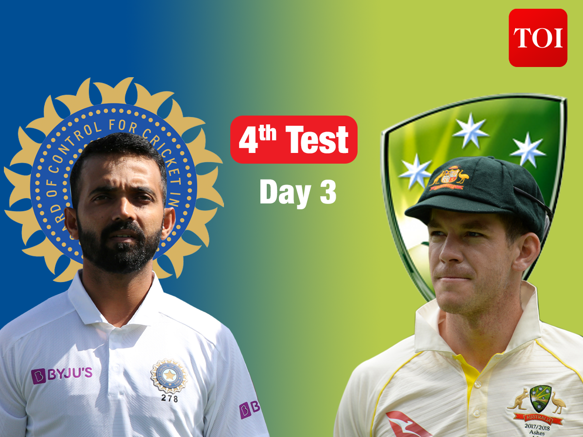 Live Cricket Score, India vs Australia, 4th Test: Australia look exert pressure on Day 3 – The Times of India