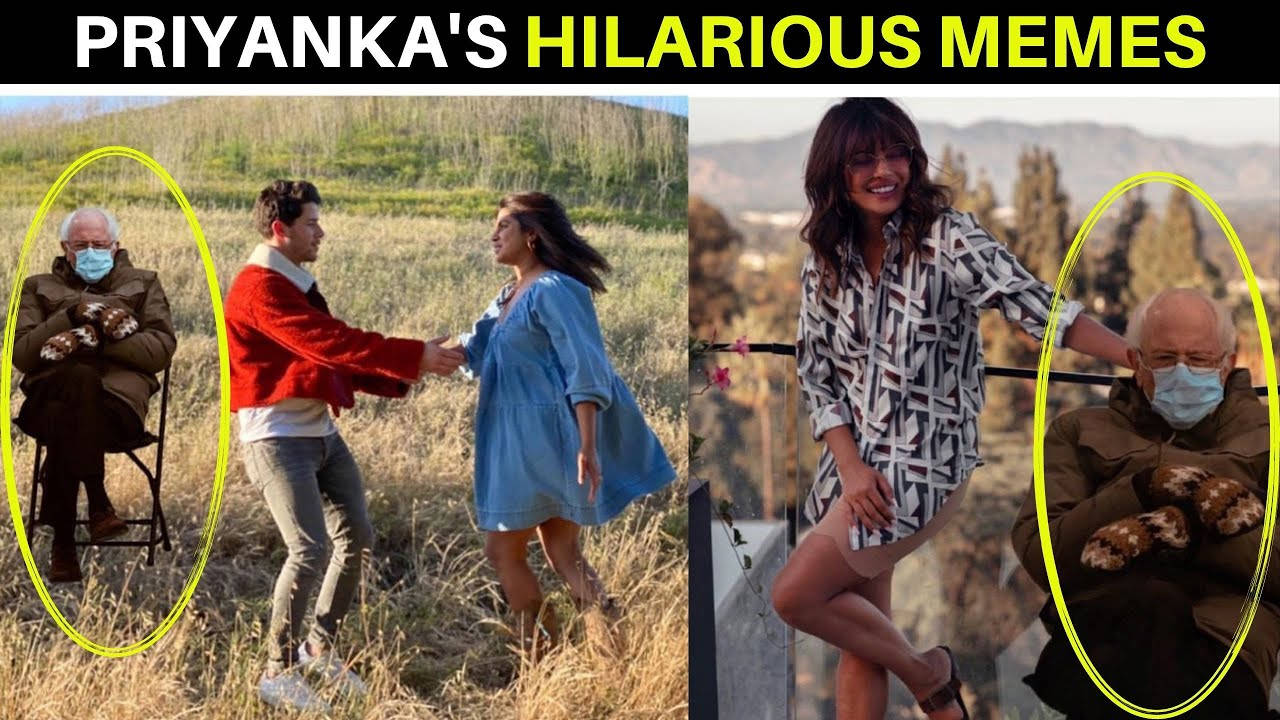Priyanka Chopra Shares Hilarious Memes Of Us Politician Bernie Sanders And Her Family Hindi Movie News Bollywood Times Of India
