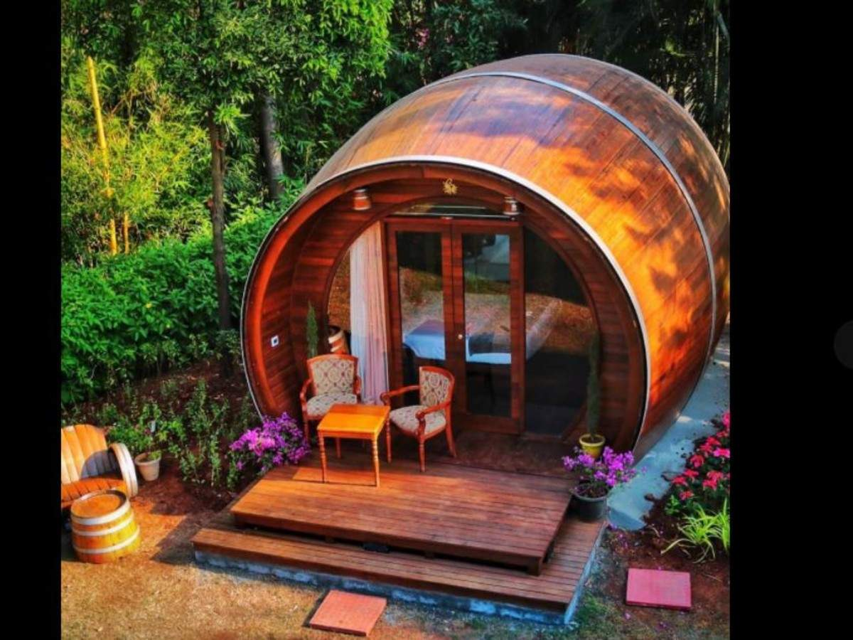 Quirky stays: You now can stay inside a real wine barrel in this Nashik vineyard