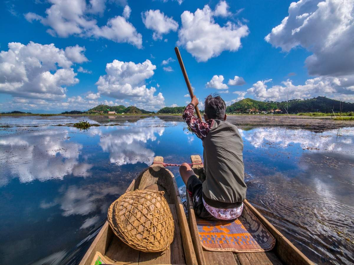 Largest lakes in India