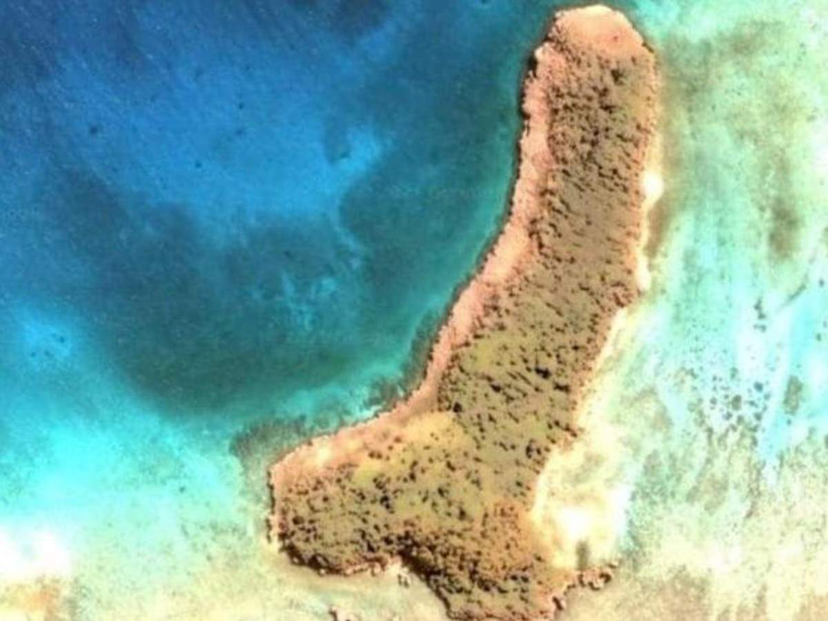 A penis-shaped island discovered in the Pacific Ocean