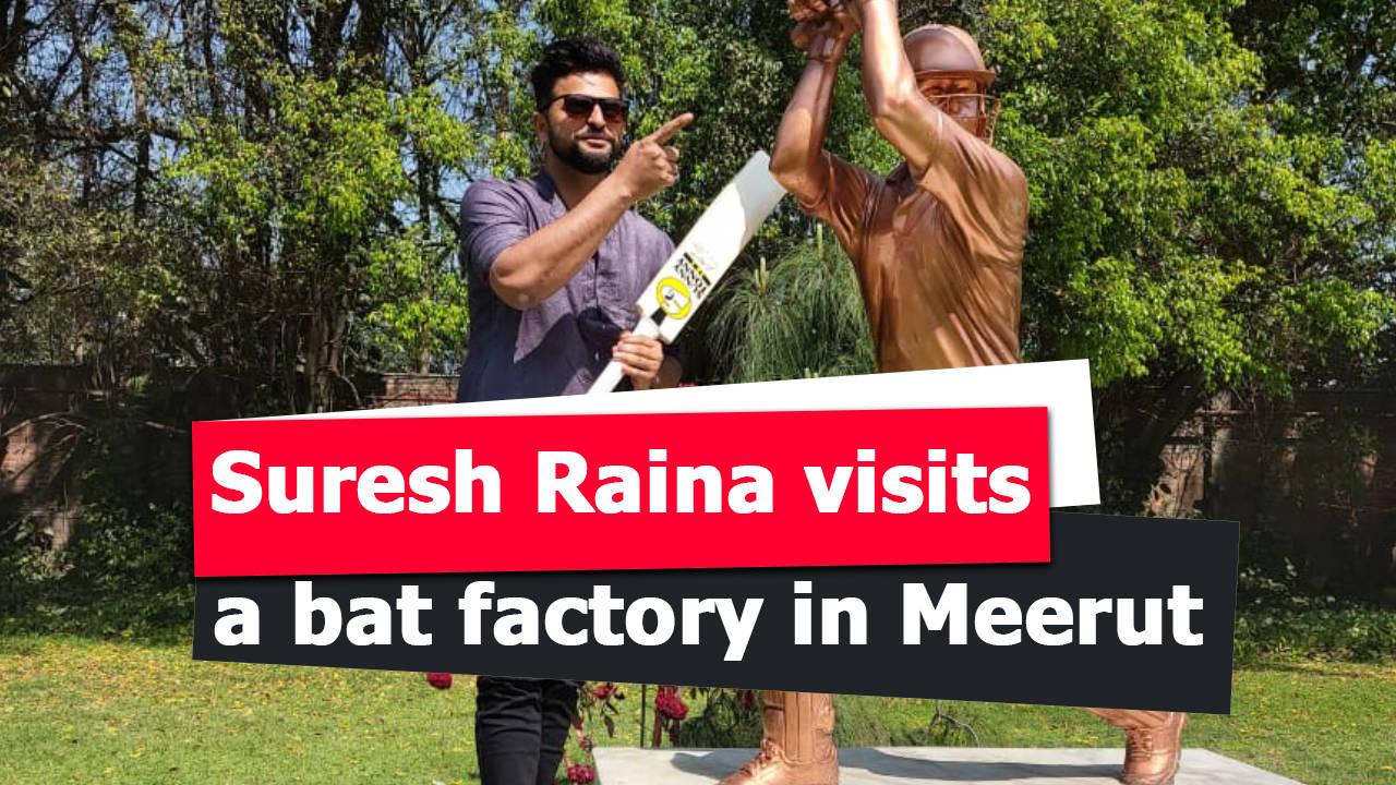 suresh-raina-visits-a-bat-factory-in-meerut
