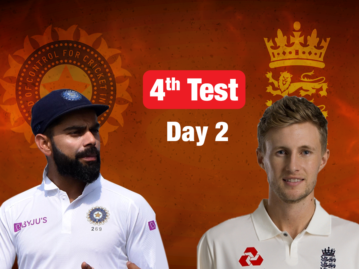 Live score: India vs England, 4th Test, Day 2