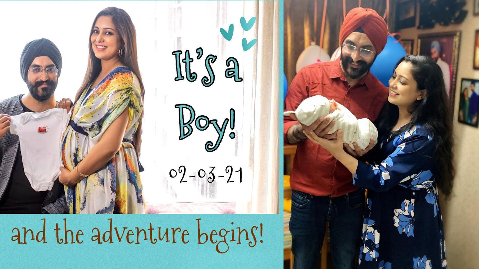 new-parents-harshdeep-kaur-and-mankeet-singh-share-the-first-glimpse-of-their-newborn-son