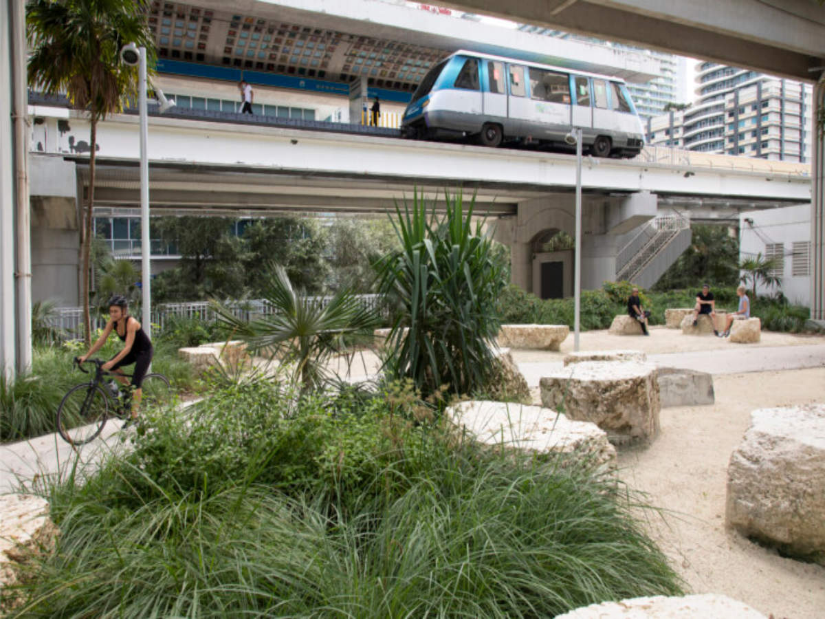 Miami to get a green space below its metro rail