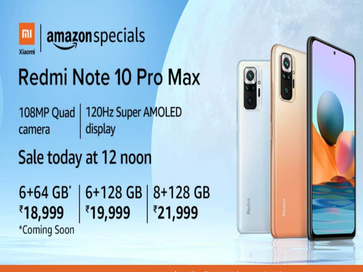 Redmi Note 10 Pro Max Will Be On Sale Today At 10 Noon On Amazon ...