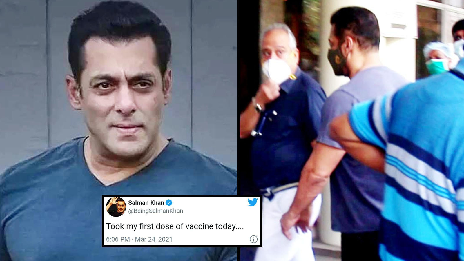 Salman Khan gets his first jab of COVID-19 vaccine at Mumbai hospital |  Hindi Movie News - Bollywood - Times of India