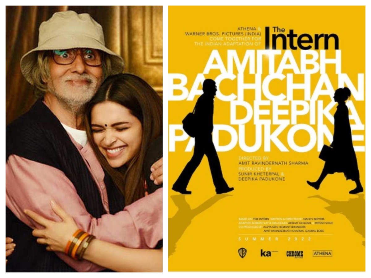 The Intern' first look poster: Amitabh Bachchan replaces late Rishi Kapoor  in Deepika Padukone's Hindi adaptation of the Hollywood film | Hindi Movie  News - Times of India
