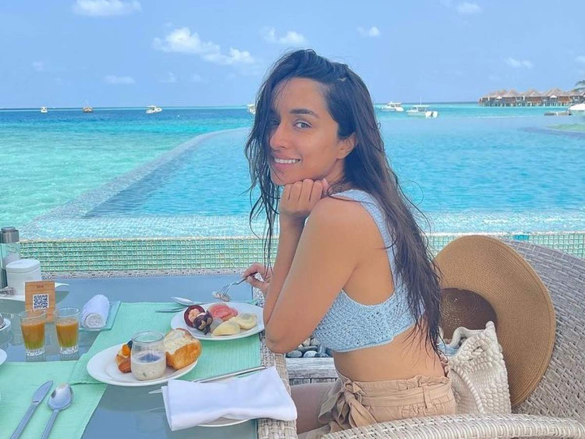 Photo: Shraddha Kapoor enjoys breakfast in the Maldives with a serene view    Hindi Movie News - Times of India
