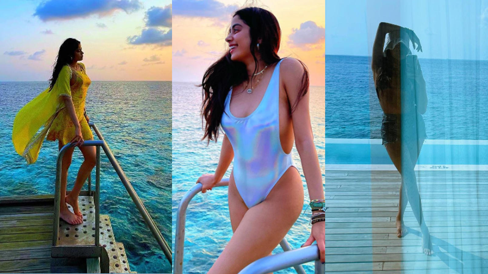 Janhvi Kapoor shares pictures from her exotic vacay, captions 'Last to get on the Maldives bandwagon but I fully get the hype' | Hindi Movie News - Bollywood - Times of India