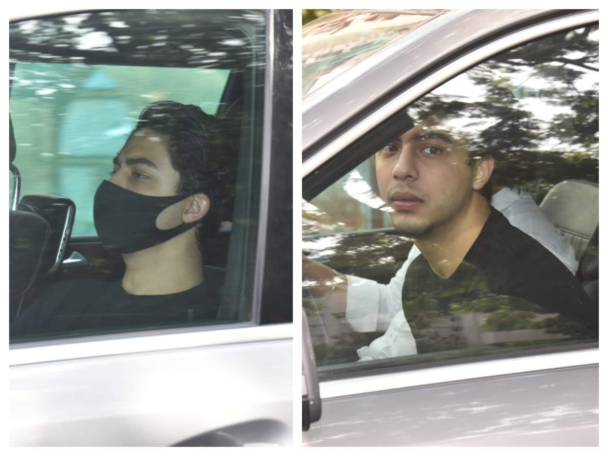 Photos: Shah Rukh Khan's son Aryan Khan gets snapped by the paparazzi outside a film studio in the city | Hindi Movie News - Times of India