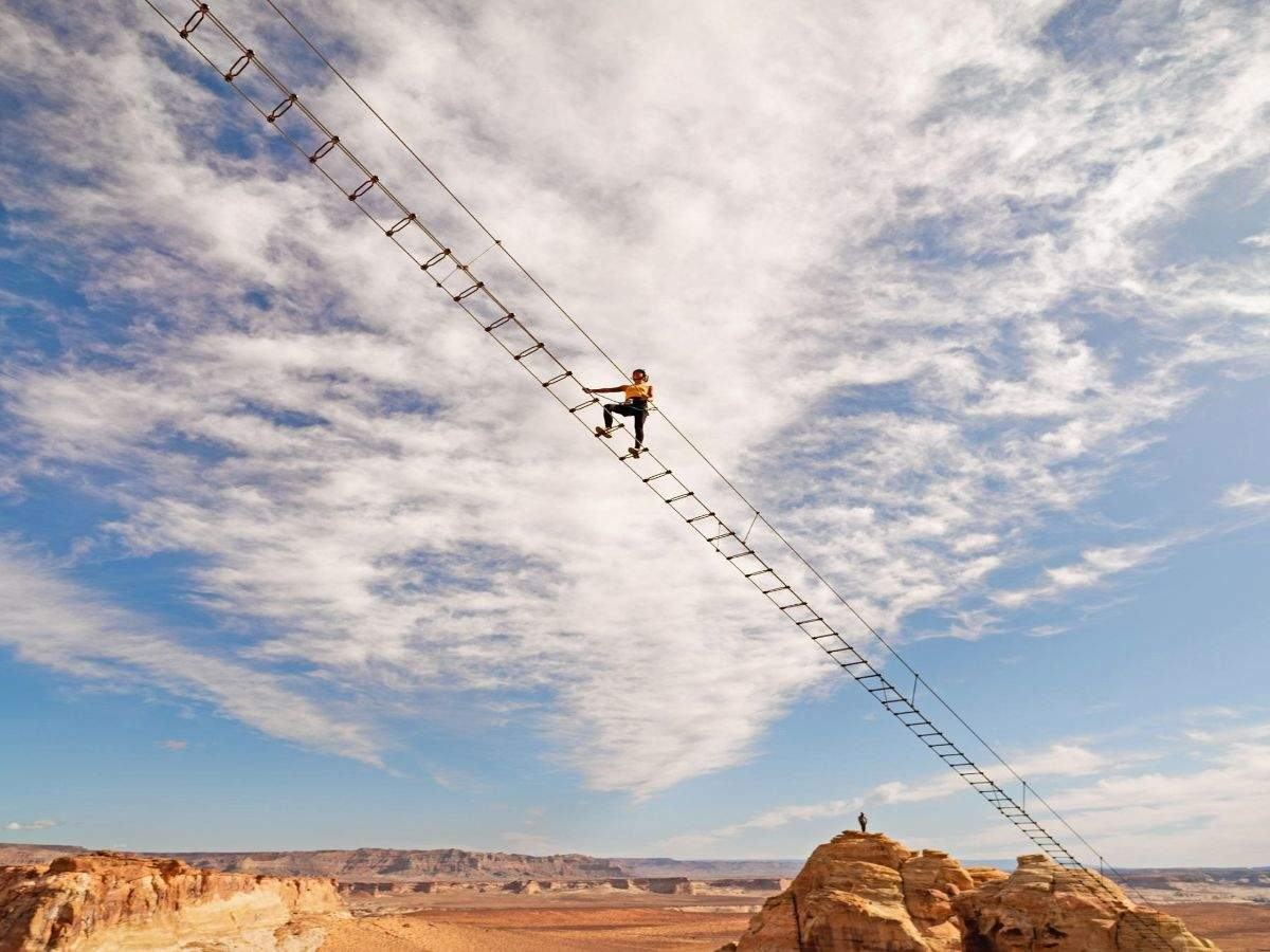 Utah's Amangiri now has a steel stairway 400 ft above the ground