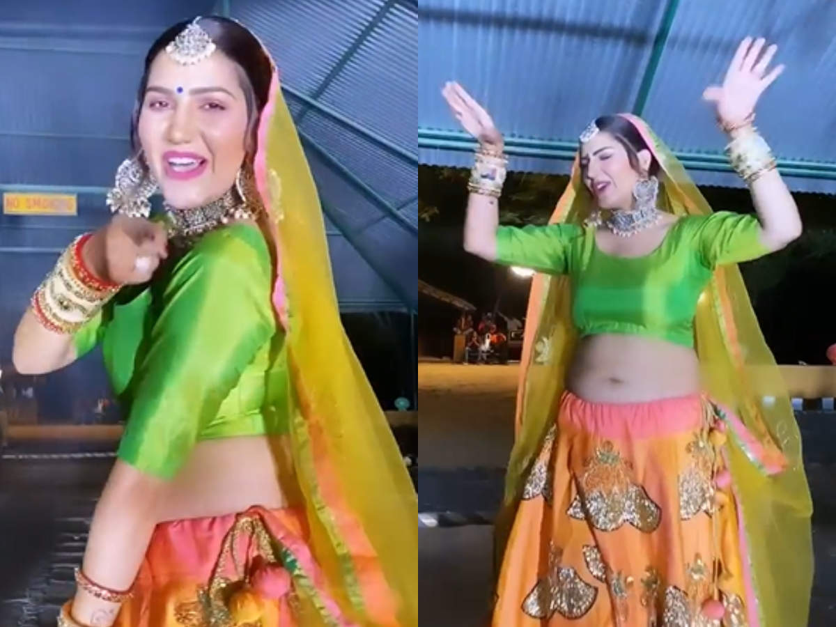Bigg Boss fame Sapna Chaudhary is wowing fans as she grooves to Kanika  Kapoor's Thade Rahiyo; watch - Times of India