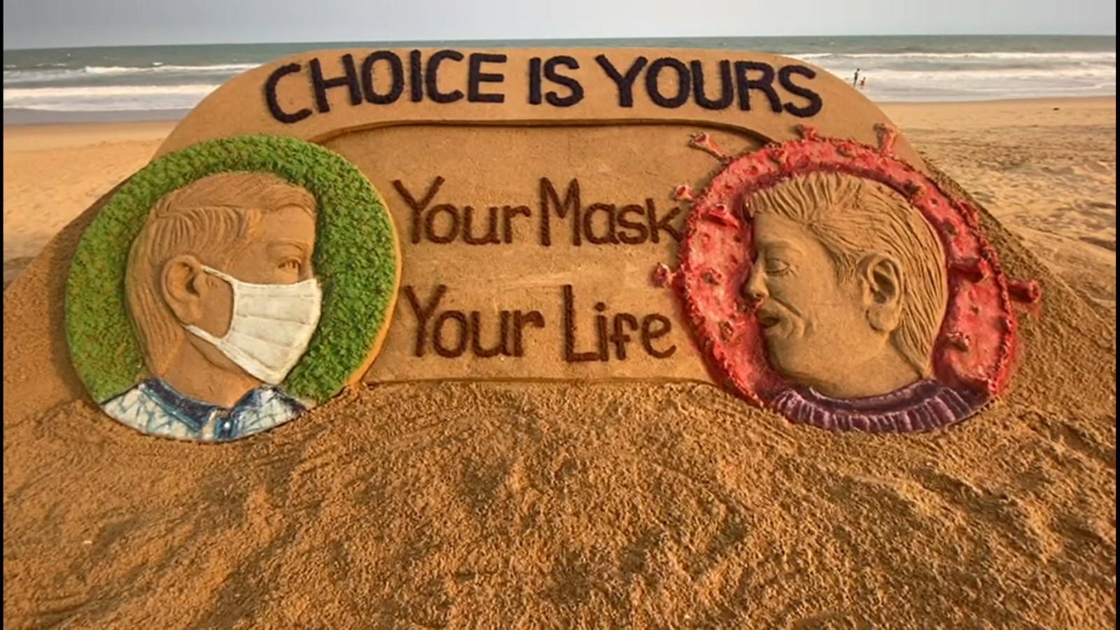 watch-artist-sudarshan-pattnaik-creates-sand-art-to-encourage-people-to-wear-masks