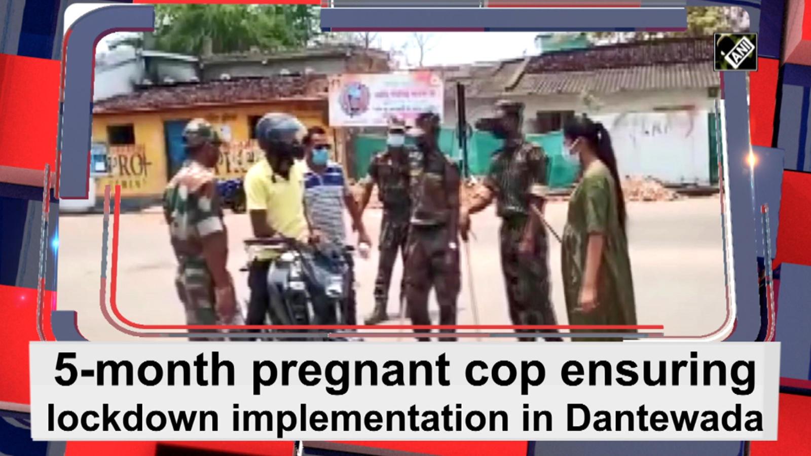 5-month-pregnant-cop-ensuring-lockdown-implementation-in-dantewada