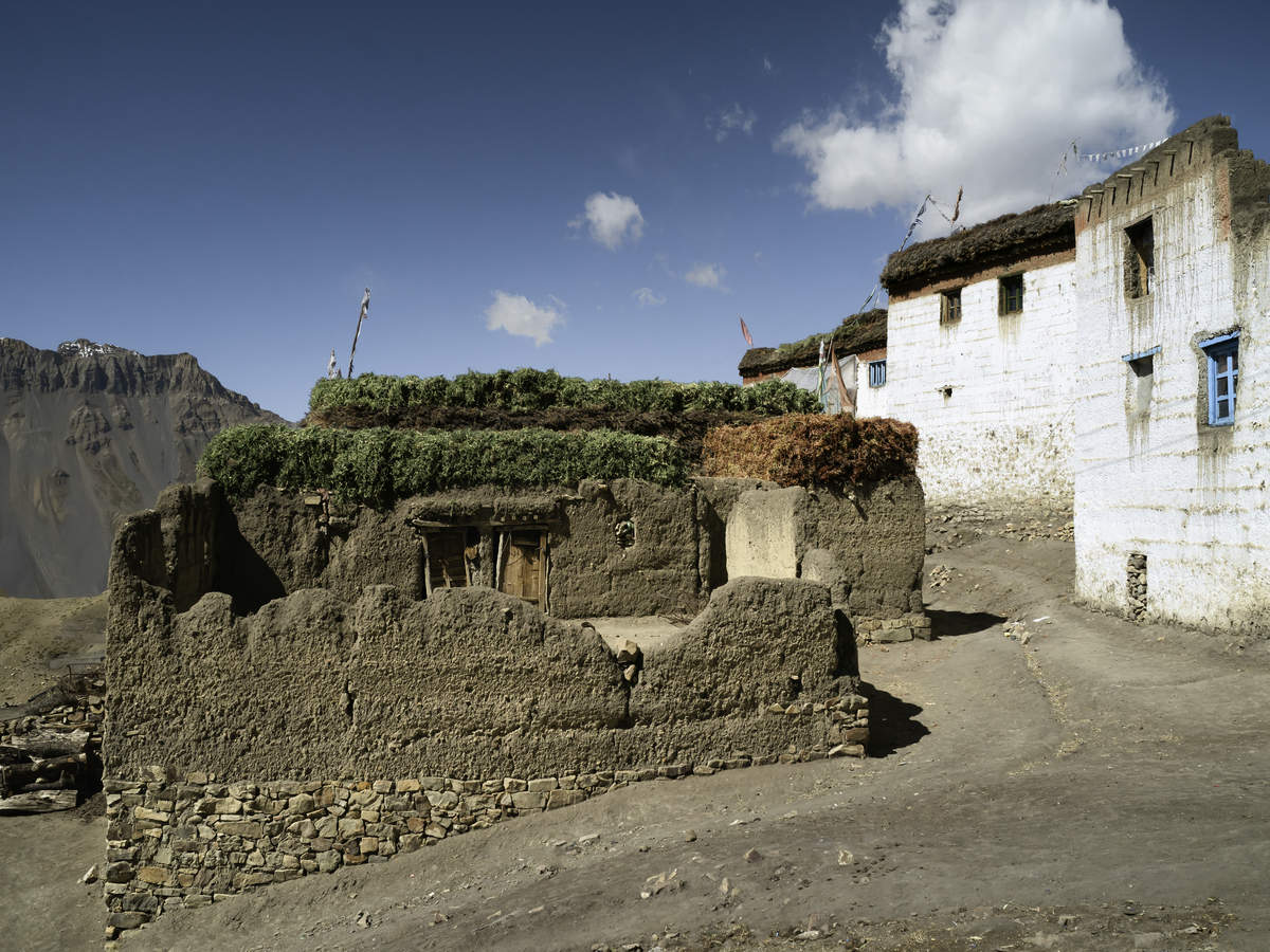 The highest village in Asia–Komic located in the Indian Himalayas