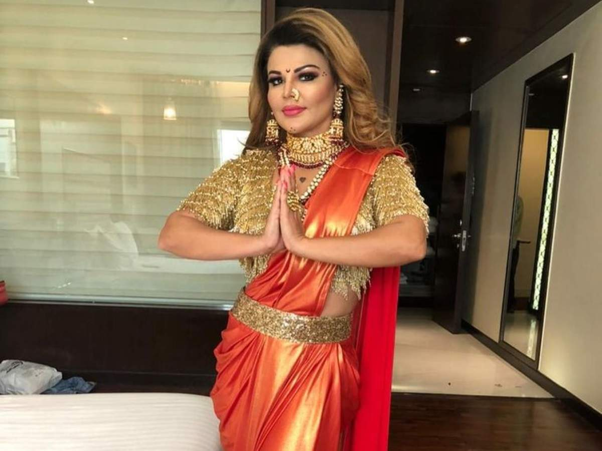 Rakhi Sawant excited to appear on Indian Idol 12; shows her look for the  episode - Times of India