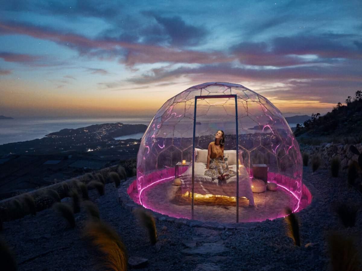 Santorini's new sky dome is simply magical