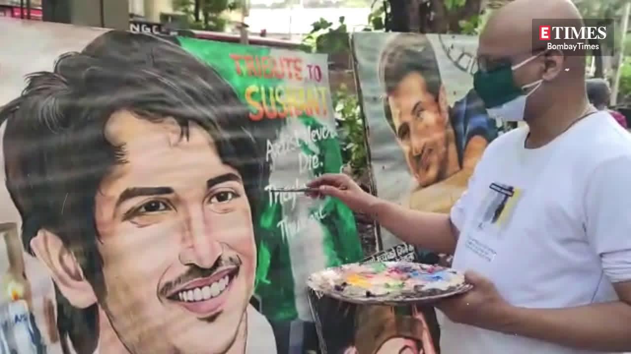 teachers-of-gurukul-art-school-in-mumbai-paint-sushant-singh-rajputs-portrait-days-before-his-first-death-anniversary