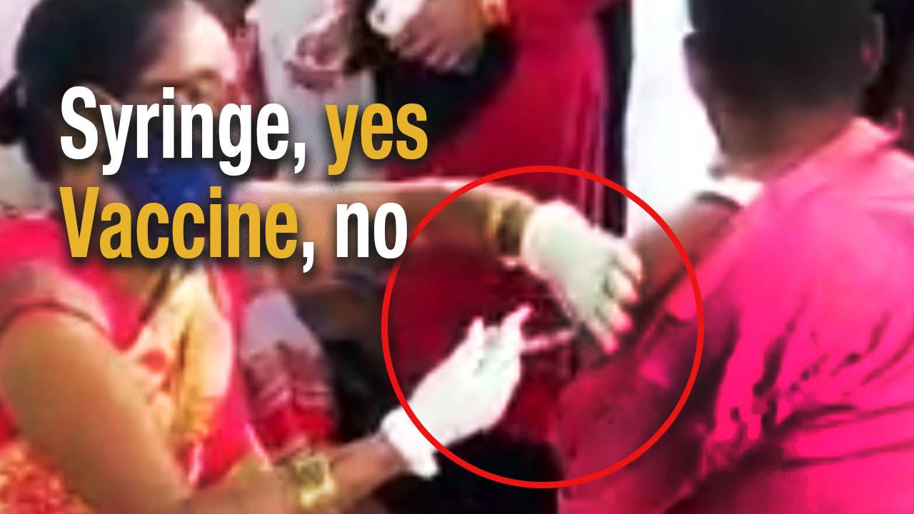 bihar-nurse-injects-empty-syringe-to-vaccinate-man-in-saran
