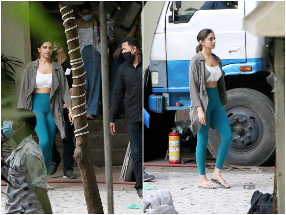 Deepika Padukone gets clicked shooting for Shakun Batra's untitled venture
