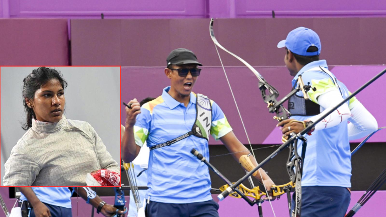 tokyo-olympics-bhavani-devi-wins-in-fencing-indian-mens-archery-team-enters-quarterfinals