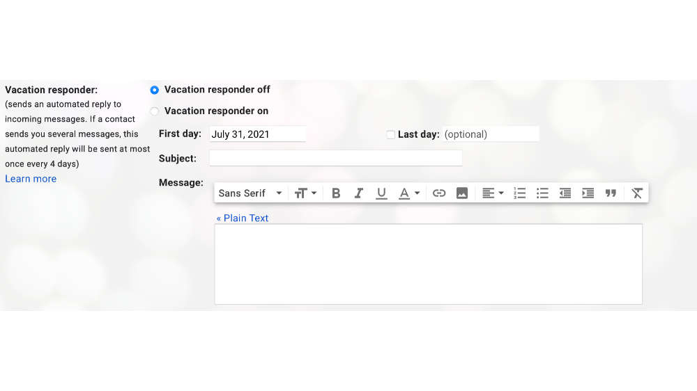 Going on vacation? Here's how you can set automatic an out-of-office message in Gmail