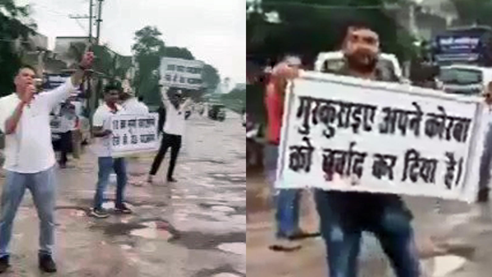 this-is-how-youths-in-korba-chhattisgarh-create-awareness-against-potholes