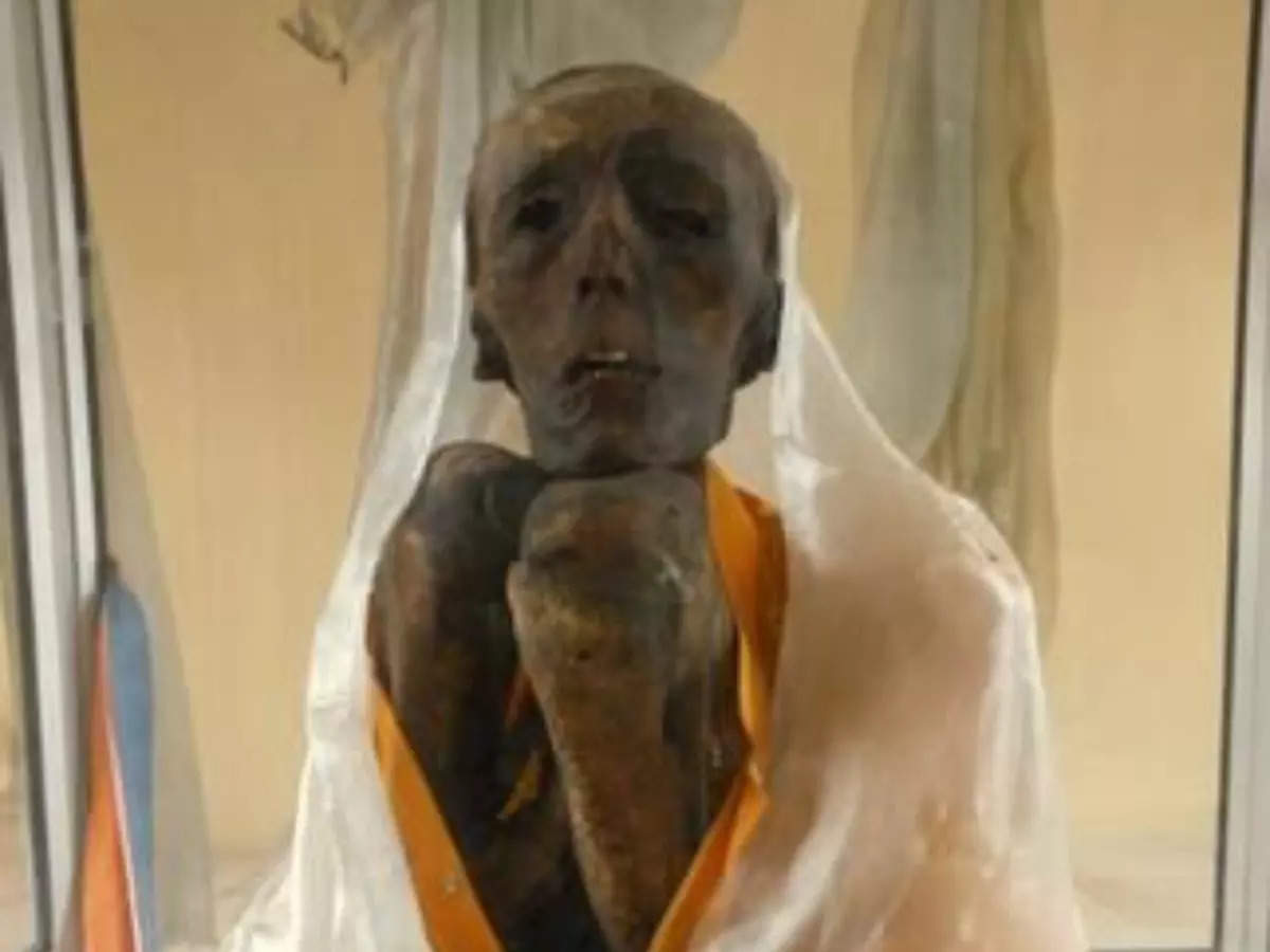 The mummy of Sangha Tenzin in Gue village of Spiti Valley