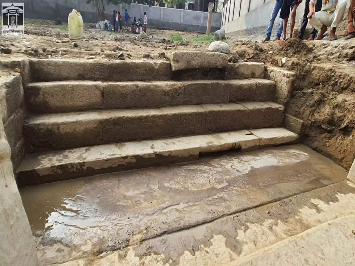 Temple stairs, inscription from Gupta period discovered in Uttar Pradesh's Etah