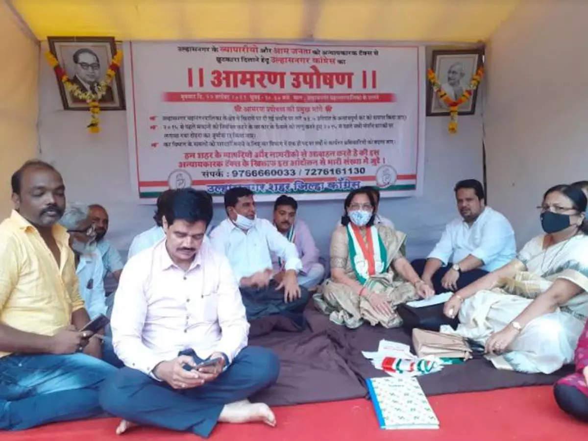 Maharashtra: Congress starts indefinite hunger strike against 'Talibani Tax' by Ulhasnagar civic body on rental properties