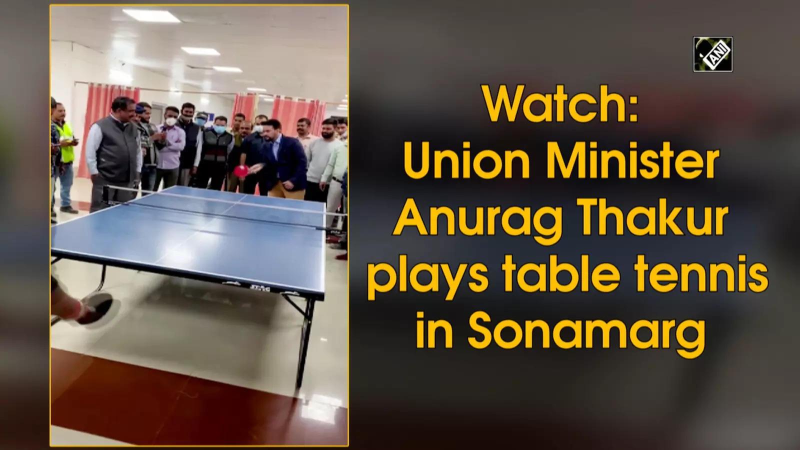 watch-union-minister-anurag-thakur-plays-table-tennis-in-sonamarg
