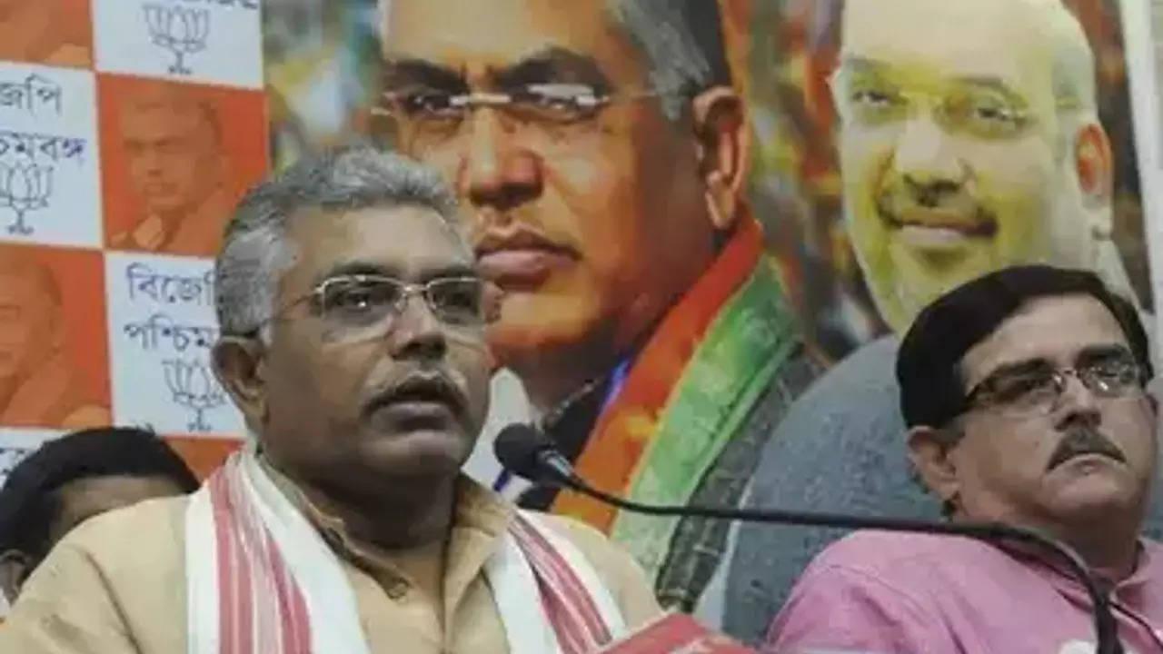 BJP claims attack on Dilip on Didi turf, EC seeks report