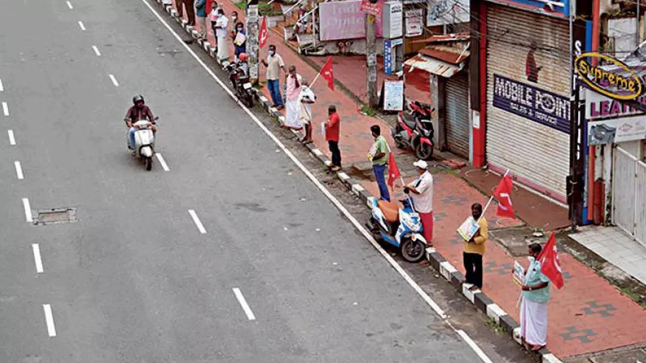 Bharat Bandh hartal total & peaceful in Kerala