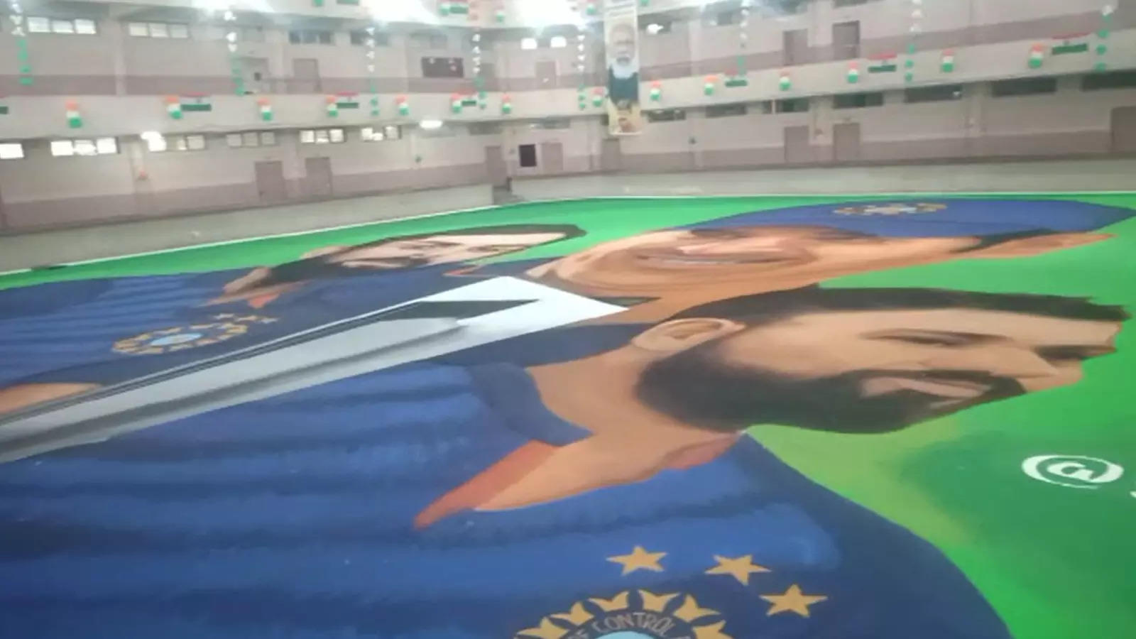 t20-world-cup-indore-artists-wish-team-india-with-rangoli-for-t20-match-against-pakistan